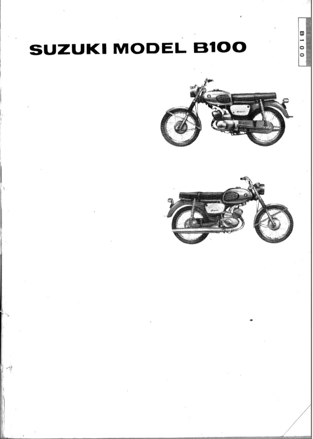 suzuki b100  b100p and b105p parts manual