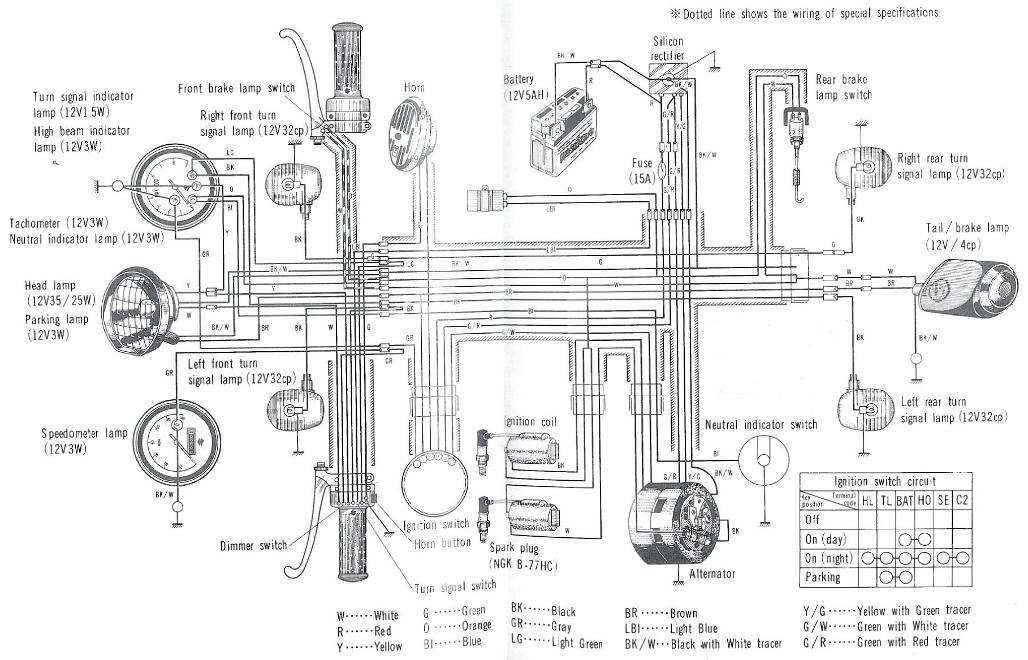 t250/t305 wiring diagram  old japanese bikes