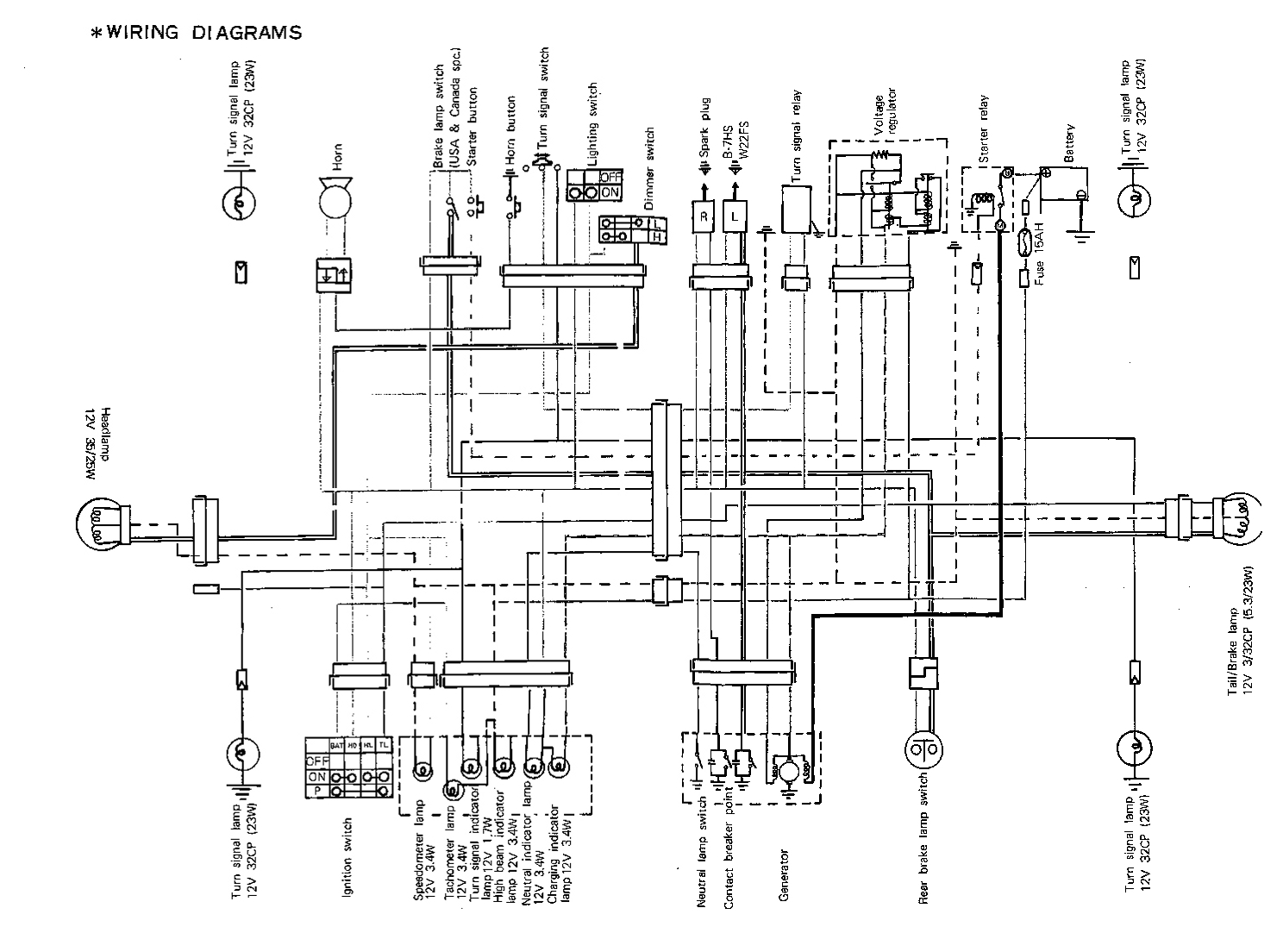Suzuki 185 Wiring Diagram Free For You Harness Gt185 Service Manual Gt Motorcycle Diagrams