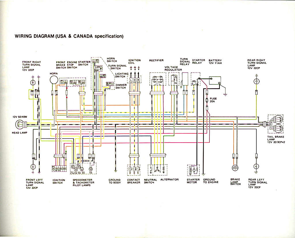 suzuki gt550 wiring diagram gt550 service manual