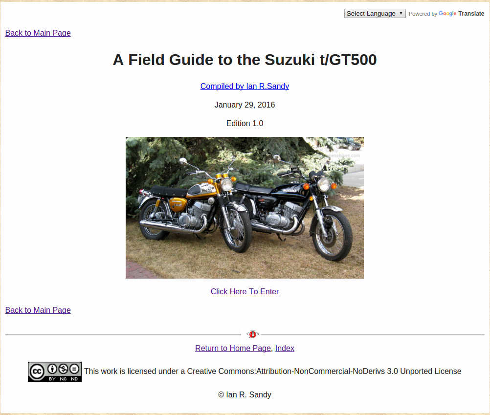 A Field Guide To The Suzuki Gt750 Old Japanese Bikes
