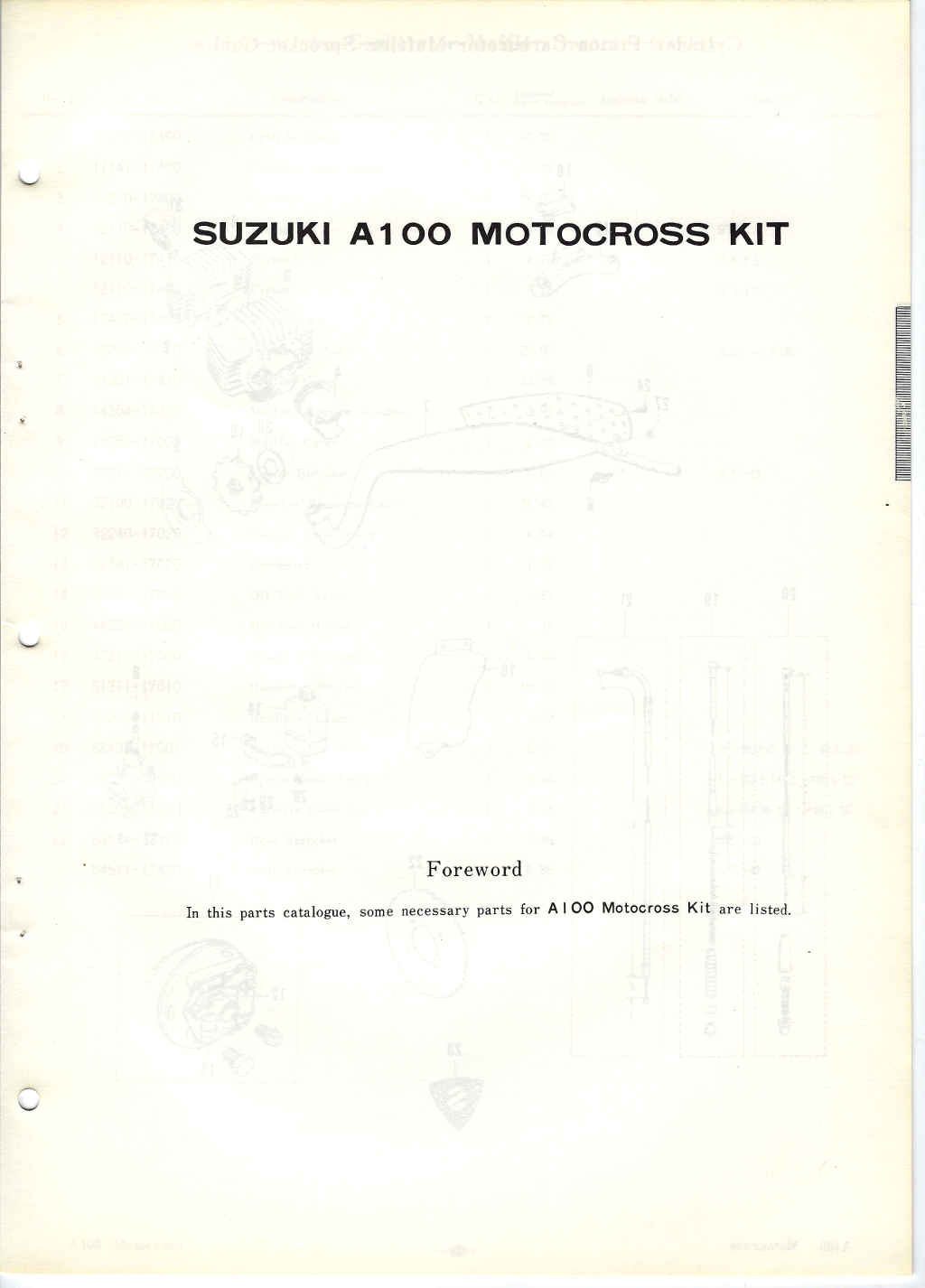 Suzuki A100 Motocross Kit · Cylinder,Carb,Exhaust, Cables