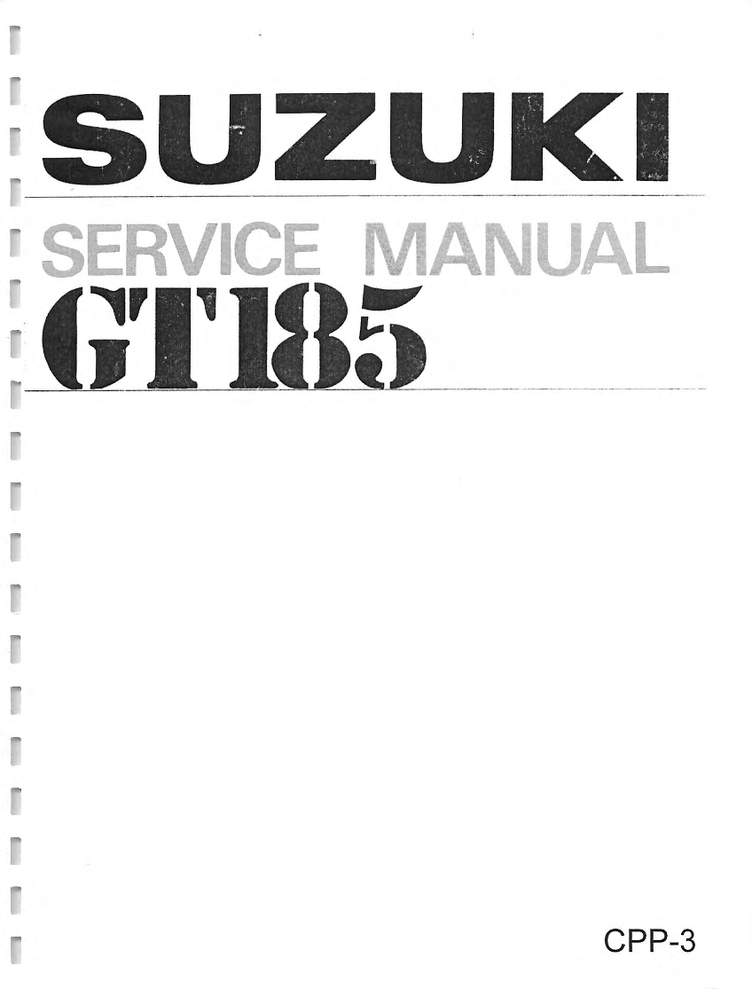 Suzuki GT185 1974 owners manual Other Motorcycle Parts Vehicle ...