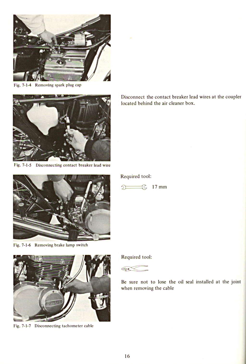Gt550 Service Manual Suzuki Wiring Diagram Engine Removal
