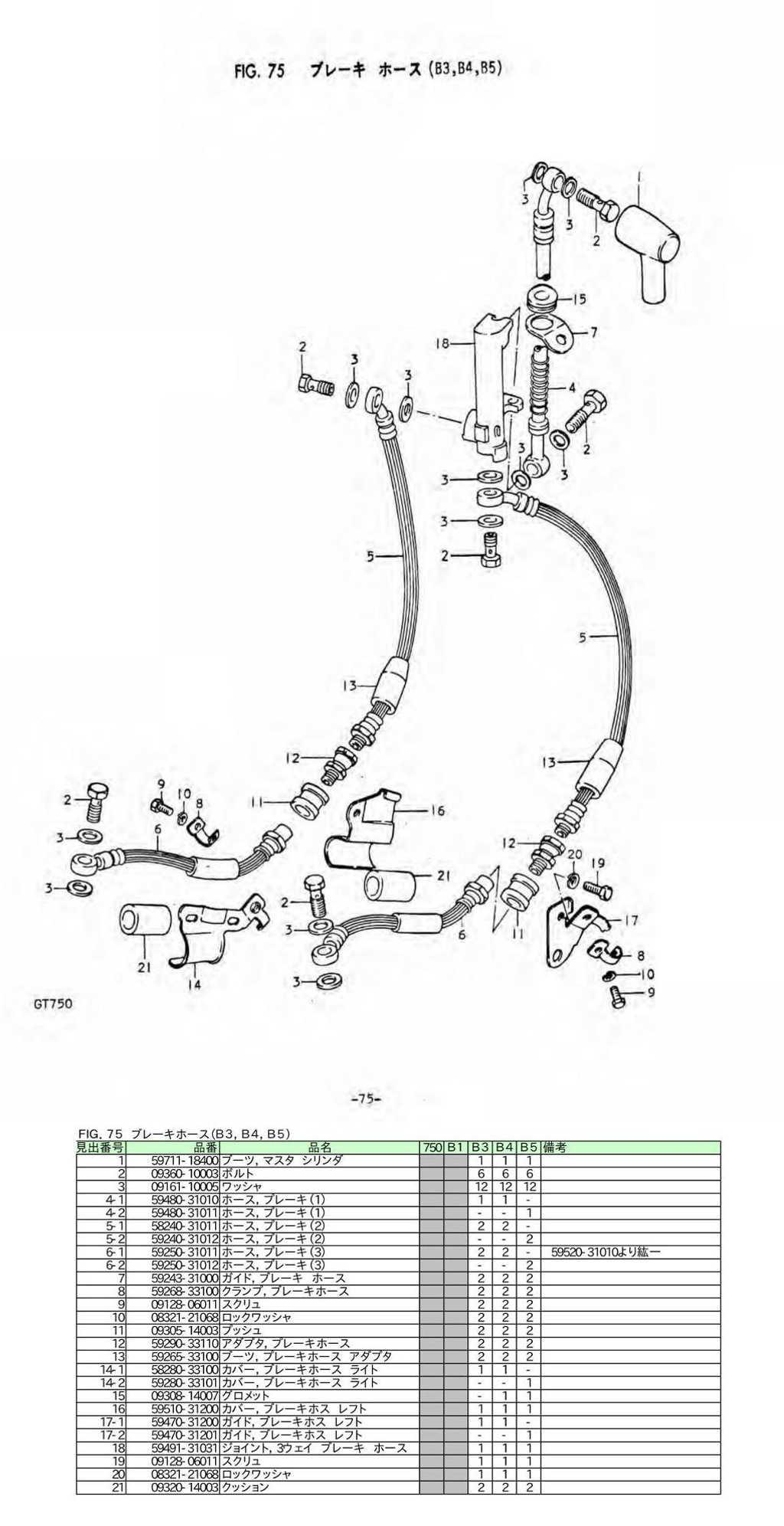 gt750 japan market parts manual