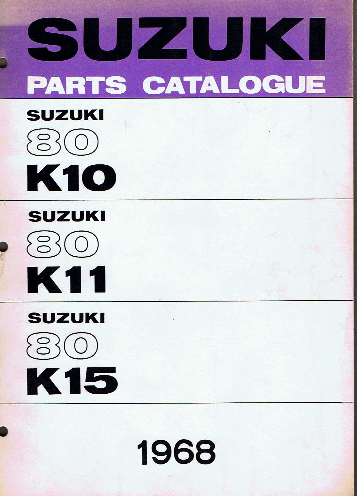 Parts Manual for K10, K11 and K15 Machines