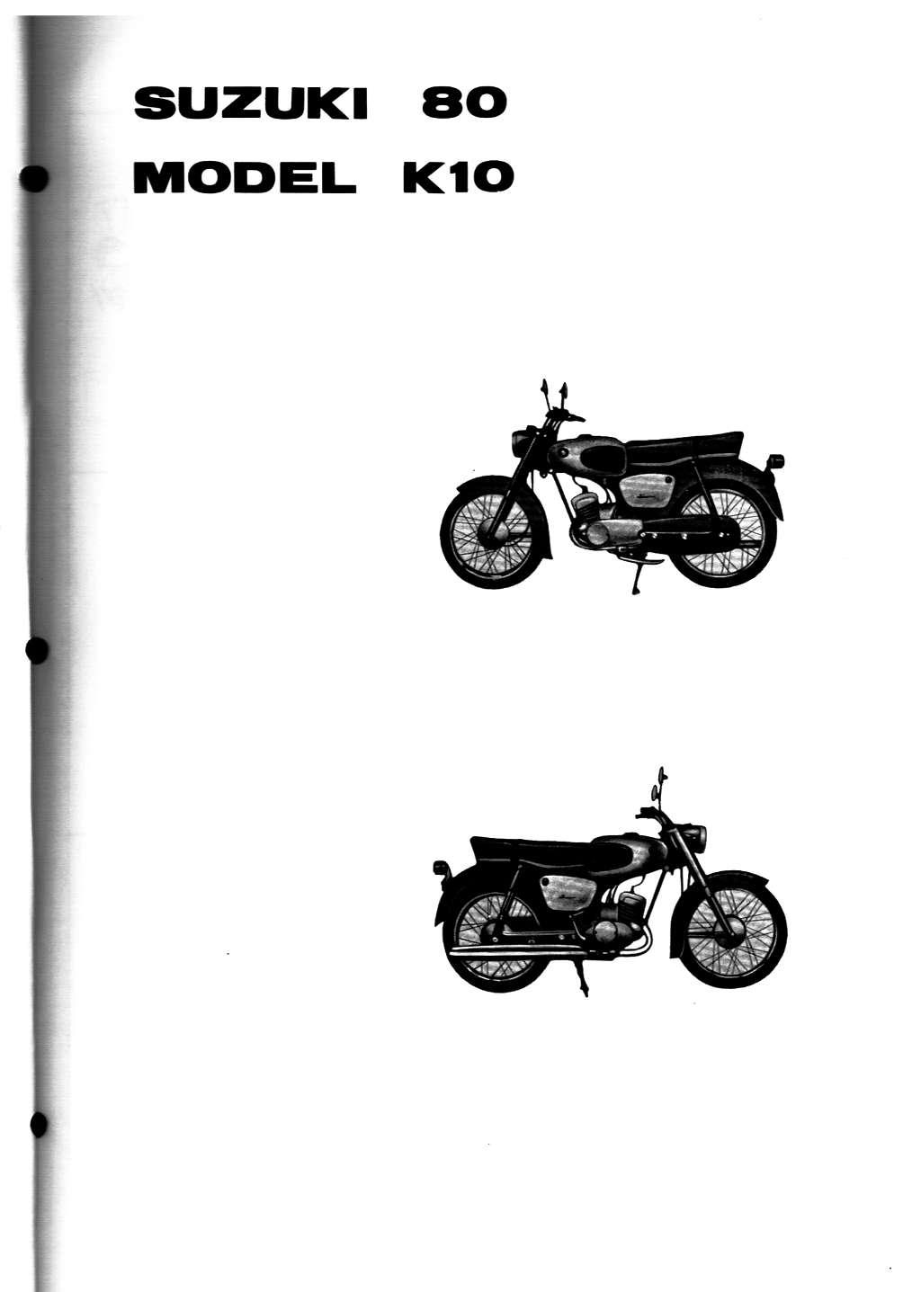 Suzuki K10 Preface ...