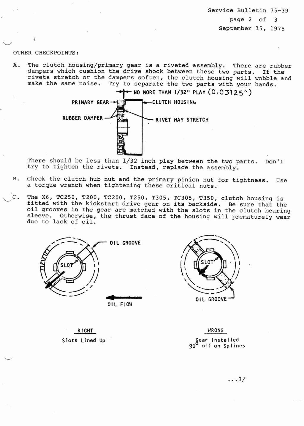 Suzuki Service Bulletins Torque Wrench Big Boss Bb 2000 40 160 Lbft 50 225nm 1974 1975 Canada